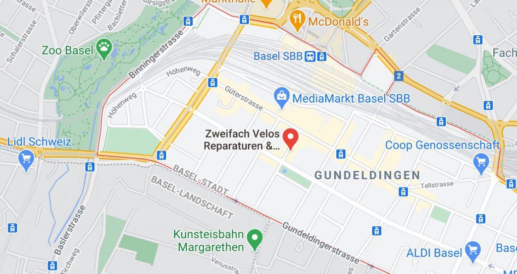Karte zweifach in Basel